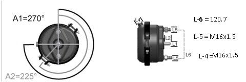 Камера тормозная тип 30 (тормоз диск) photo