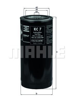 Фильтр топливный DAF 95XF (Mahle) photo