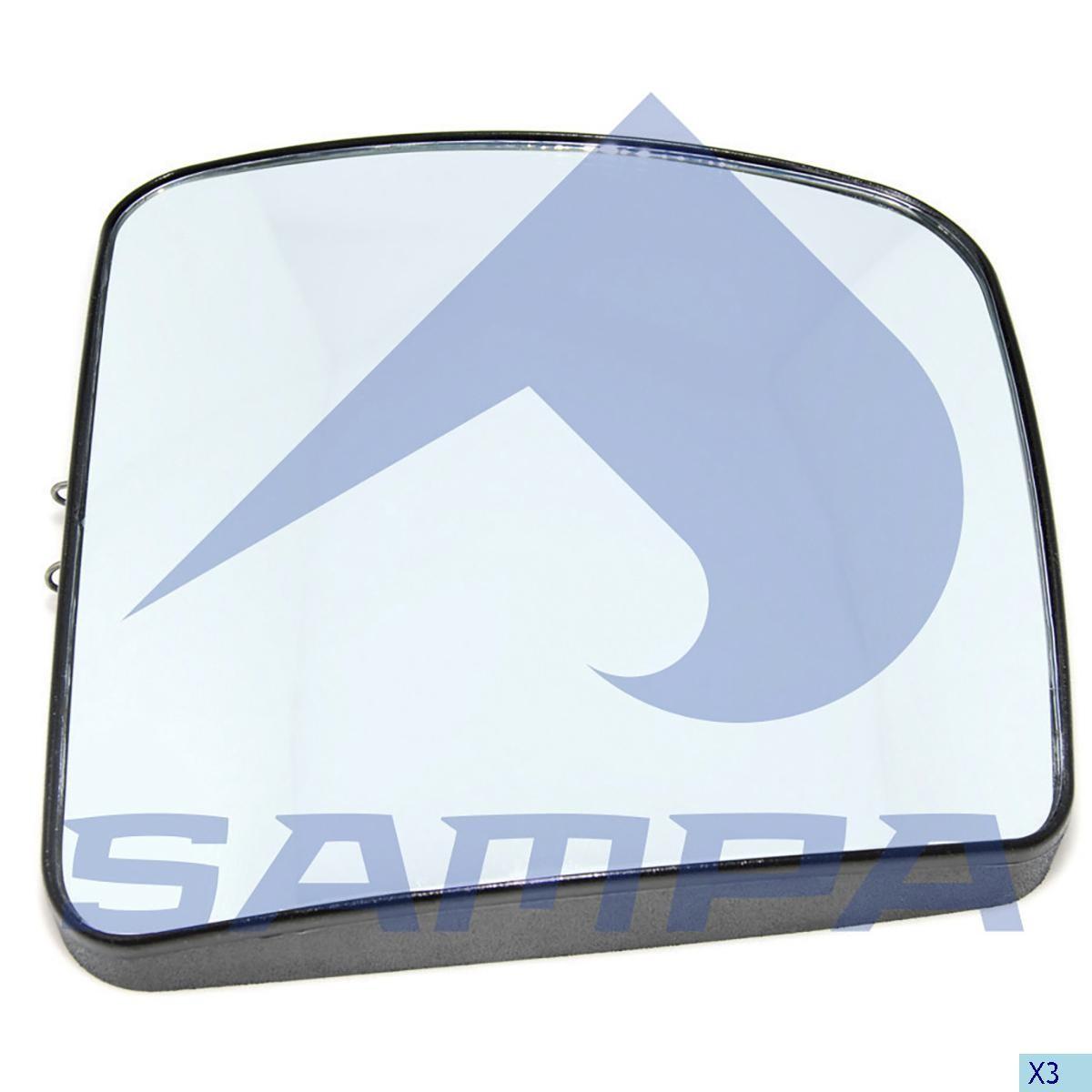 Стекло зеркала Actros Euro 5 левое малое photo