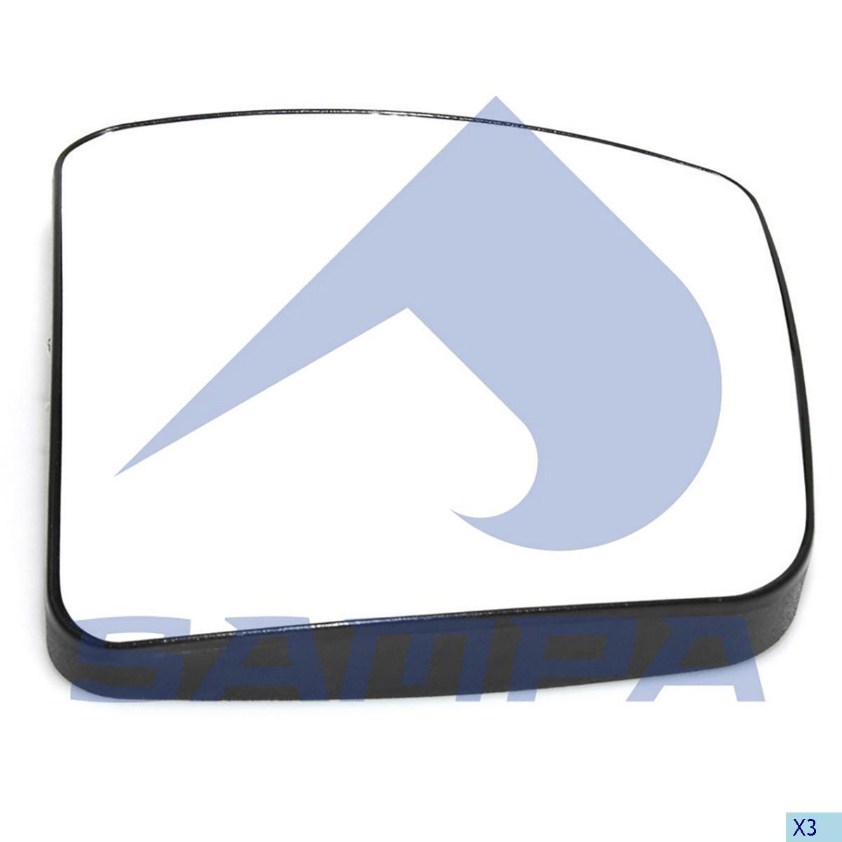 Стекло зеркала Actros Euro 5 правое малое photo