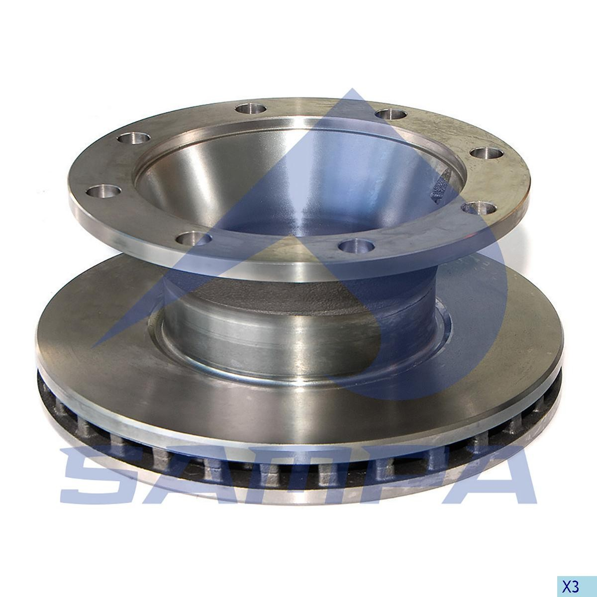 Тормозной диск ВPW 377х160/8 (EKU) photo