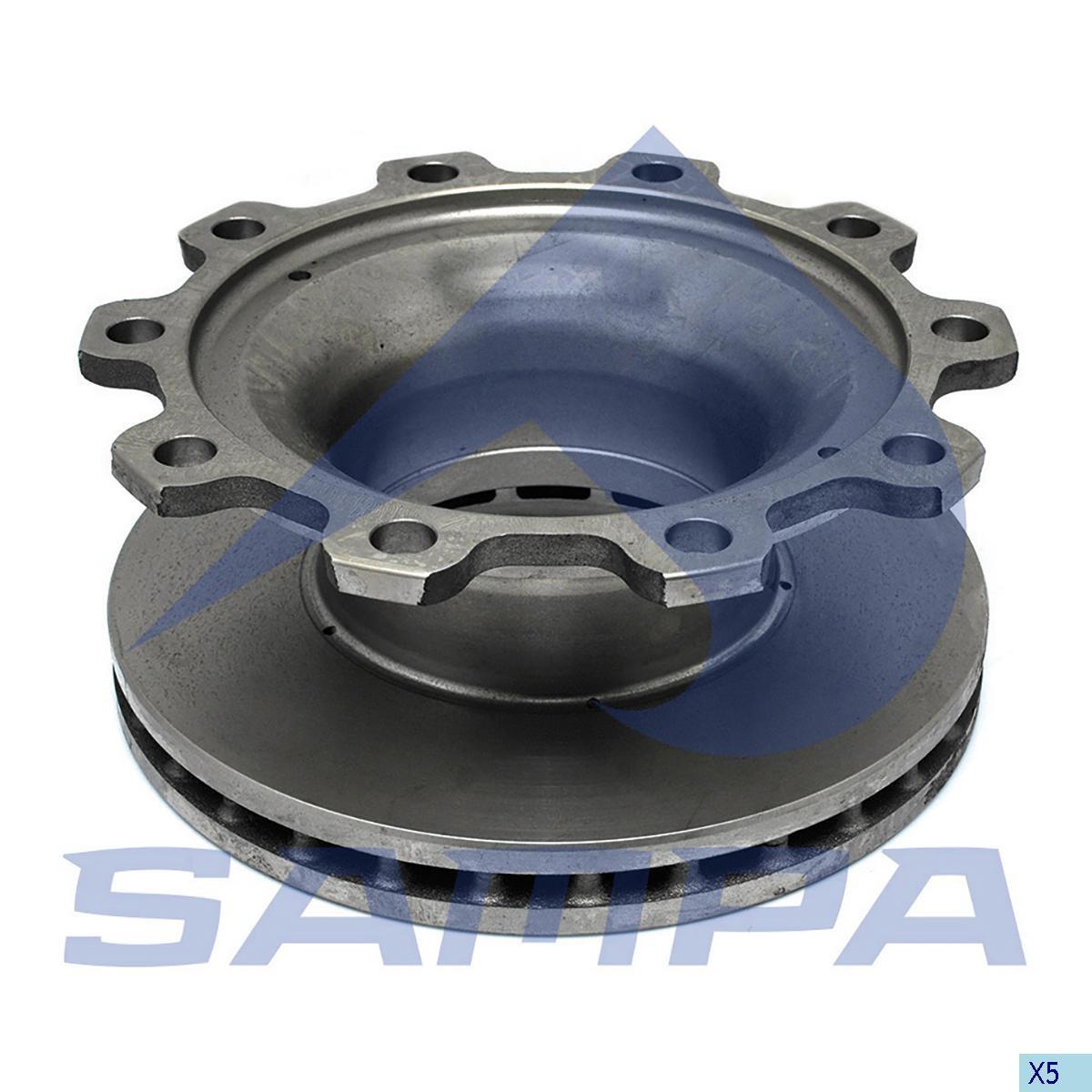 Тормозной диск ВPW 377х160/10 ромашка (960358) photo