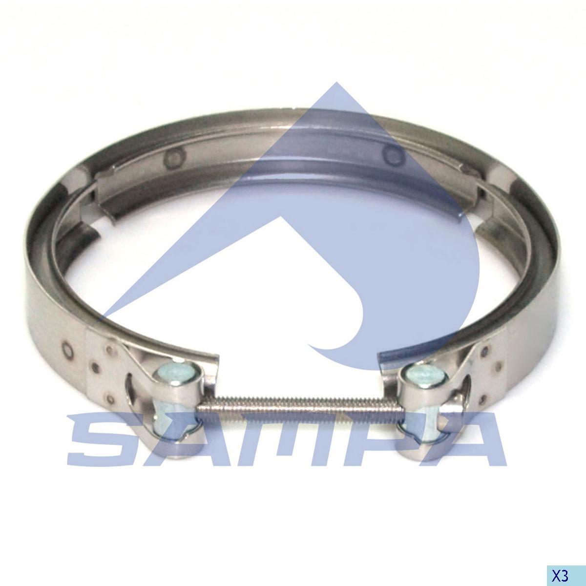 Хомут глушителя DAF 105 XF D=150x160 мм photo