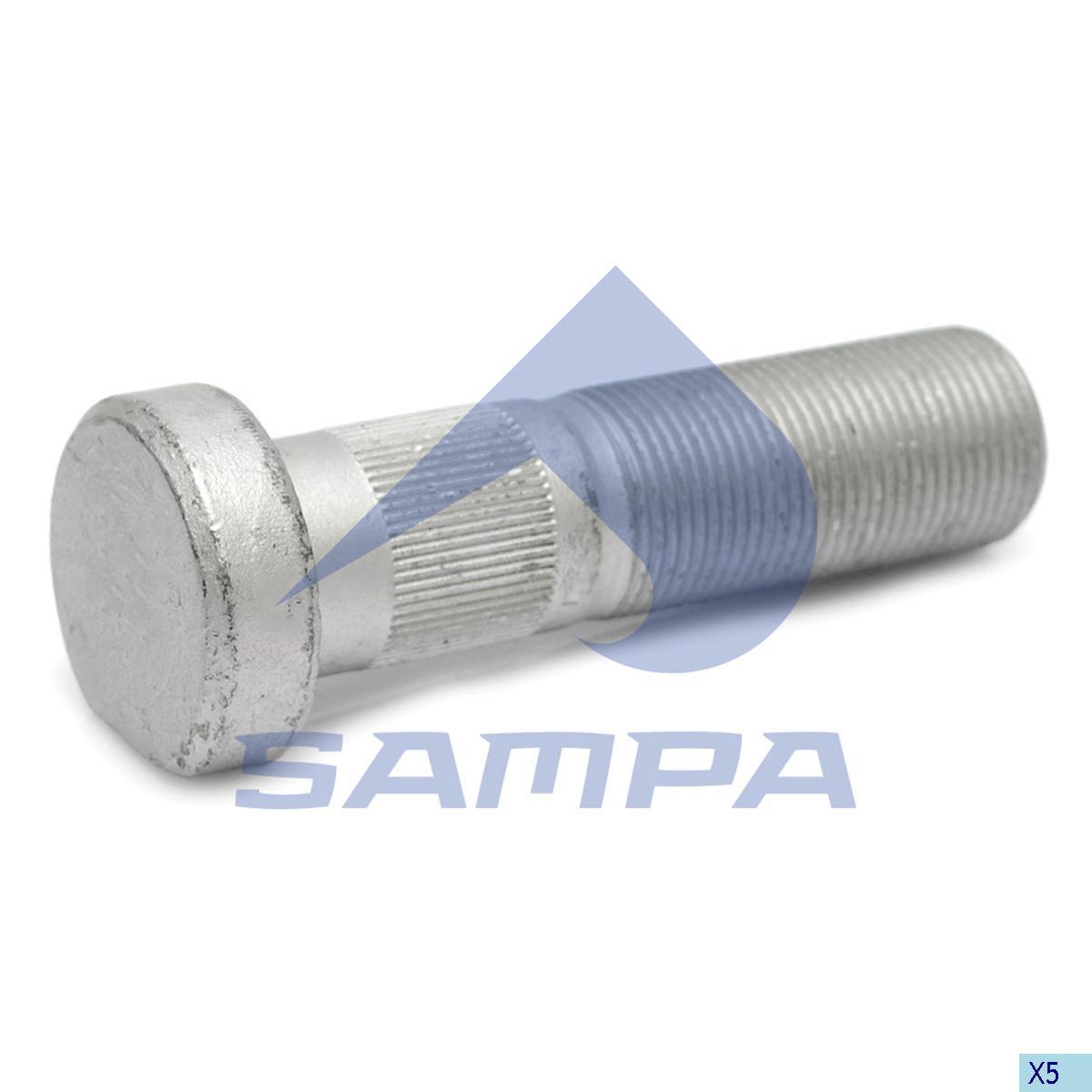 Шпилька ступицы SAF М22х1,5 L=82 (с гайкой) photo