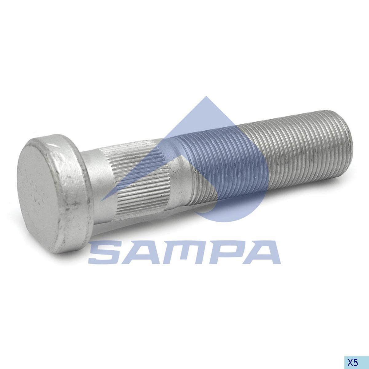 Шпилька ступицы SAF М22х1,5 L=93мм photo