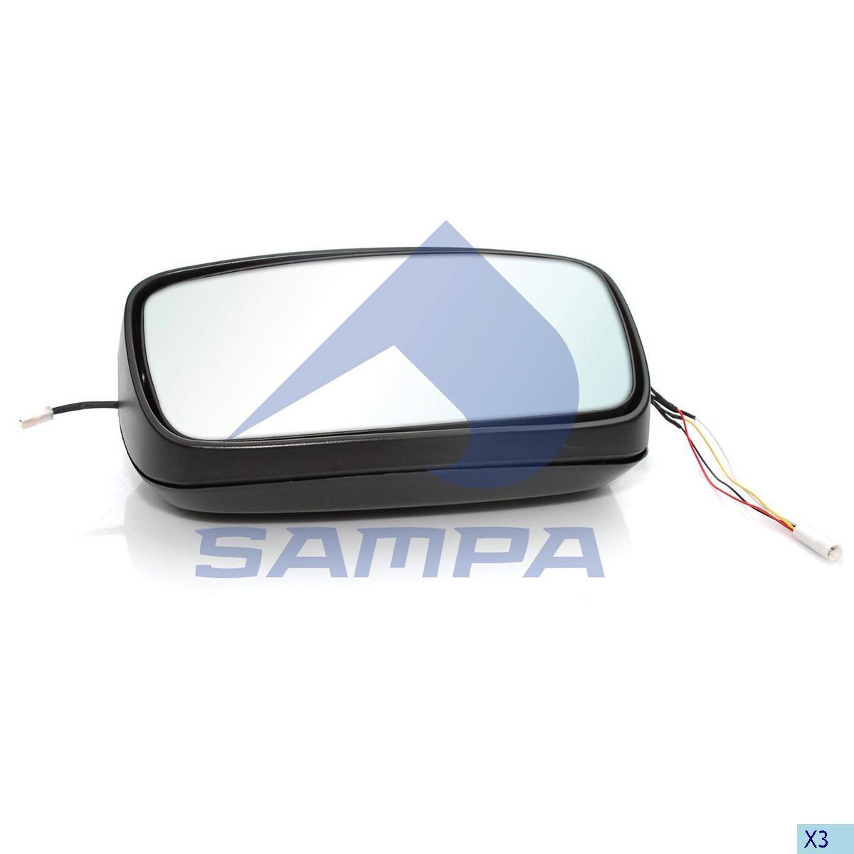 Зеркало наружное DAF 105XF (411х228) с под/мотором 2006… photo