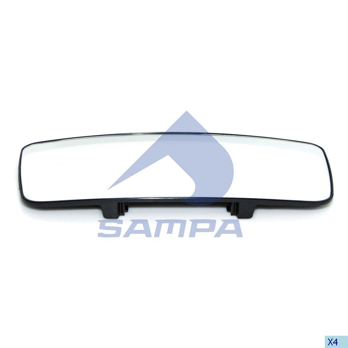Стекло зеркала Volvo FH12 (435х200) с подогревом 2002-2007-E5 photo