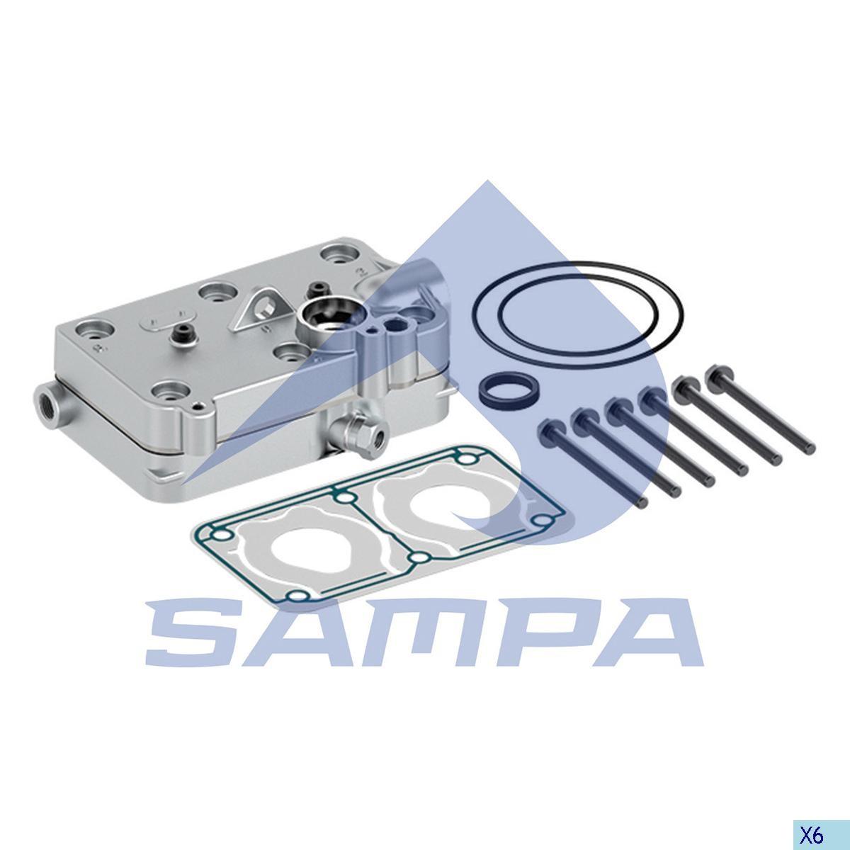 Головка компрессора Volvo FH12 Wabco 4127040010 photo