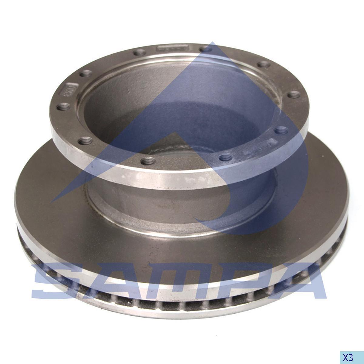 Тормозной диск ROR 378х45/10мм с кор.abs photo
