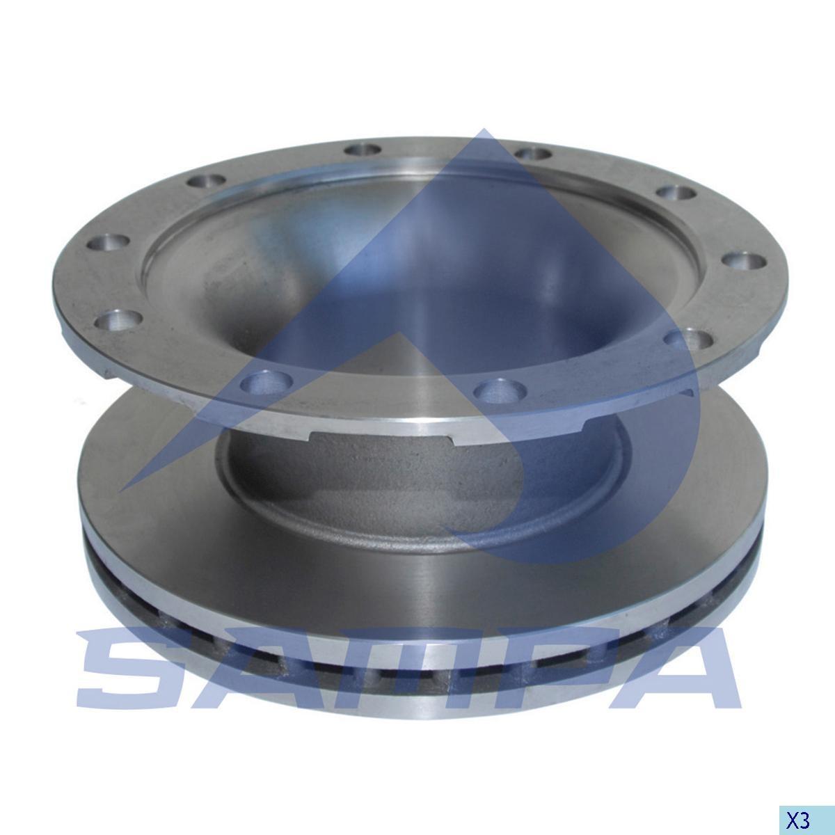 Тормозной диск ВPW 377х160/10 D=300 (960570) photo