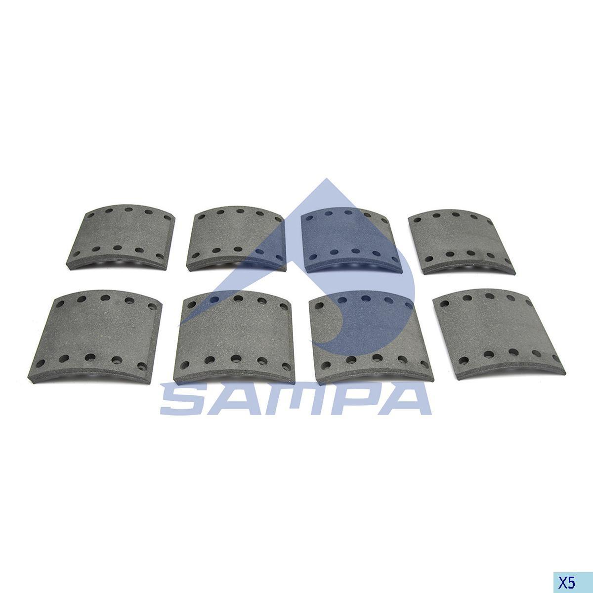 Накладки тормозные BPW 420х200 P1 (Sampa) photo