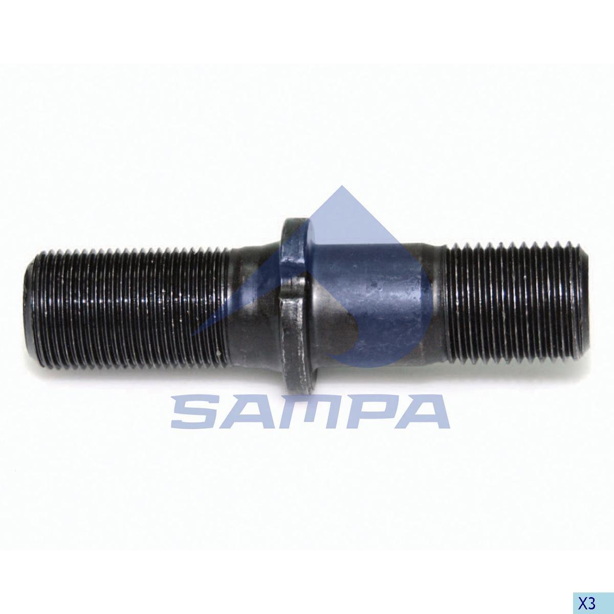 Шпилька ступицы BPW М22х2/М22х1,5 97 mm photo