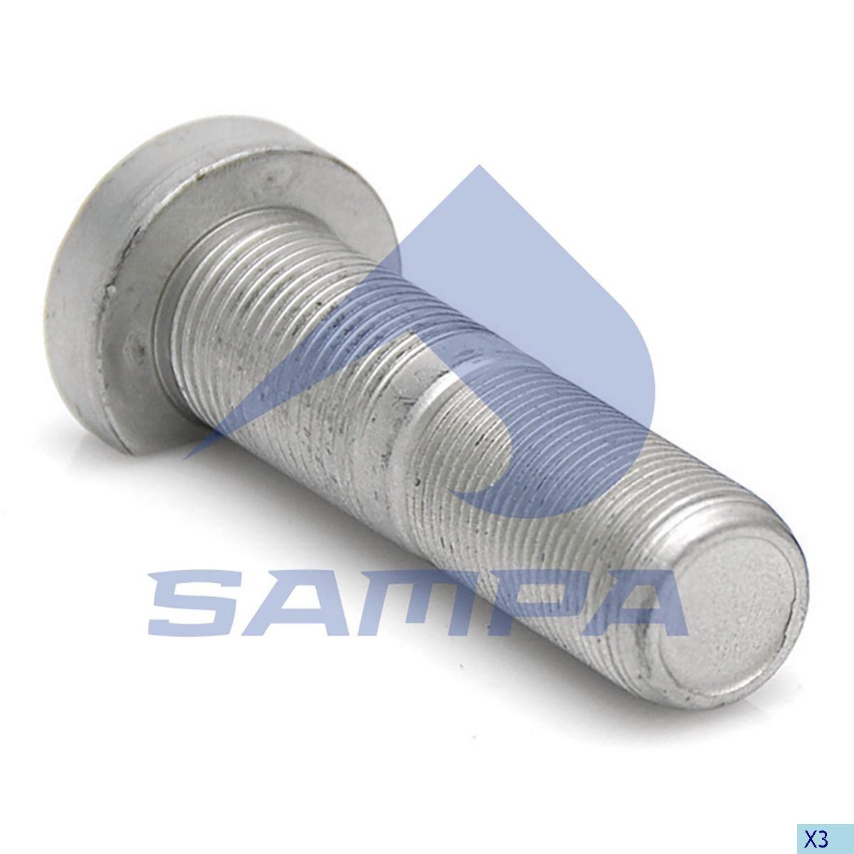 Шпилька ступицы BPW М22х1,5х89мм (с гайкой) photo