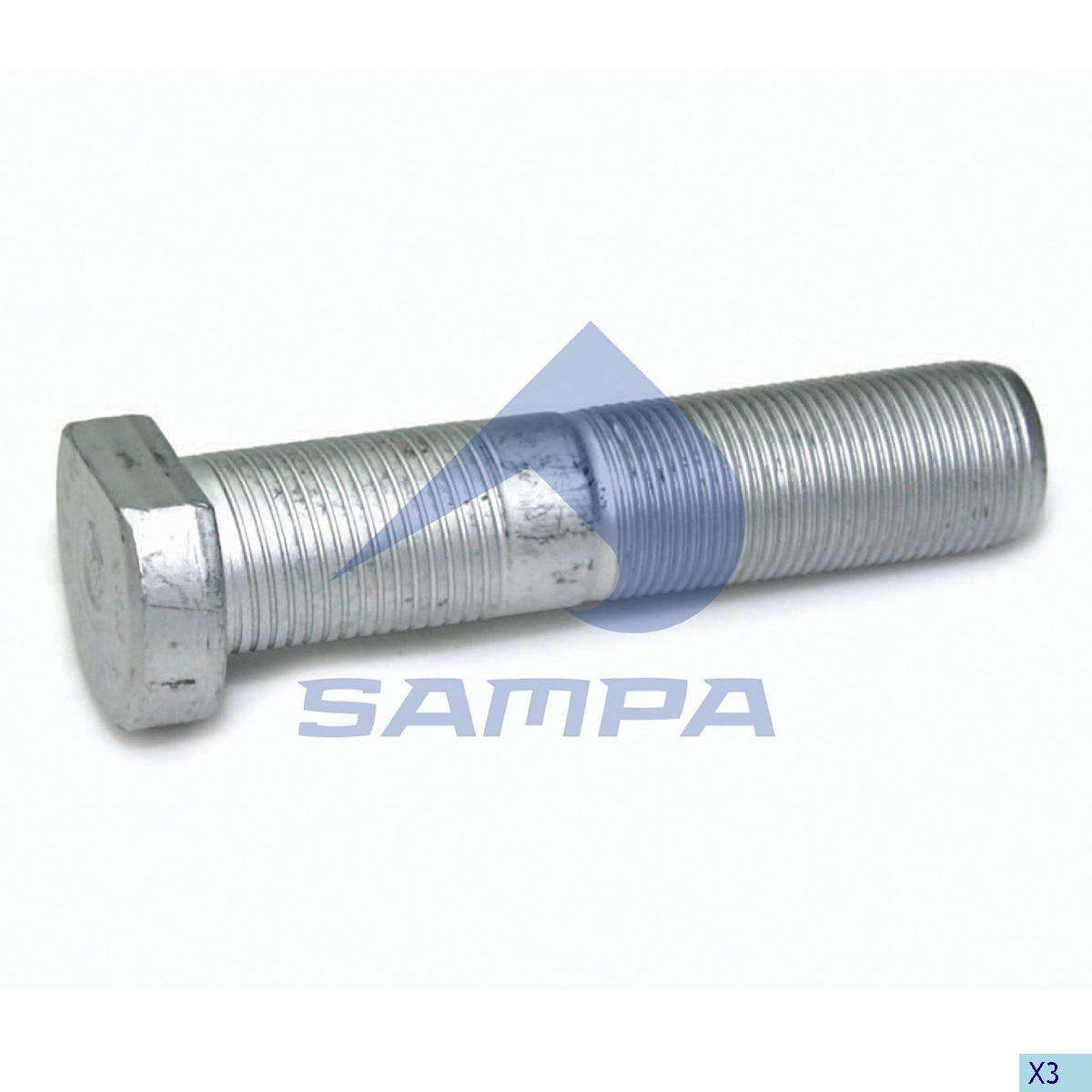 Шпилька ступицы BPW М22х1,5 96мм photo