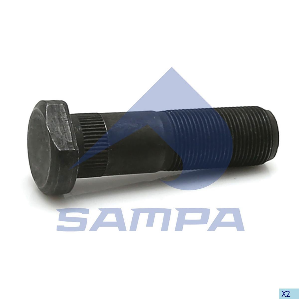 Шпилька ступицы Iveco М22х1,5 L=77 (с гайкой) photo