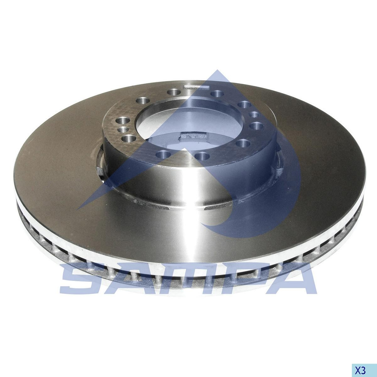 Тормозной диск RENAULT 438х45мм/10 photo