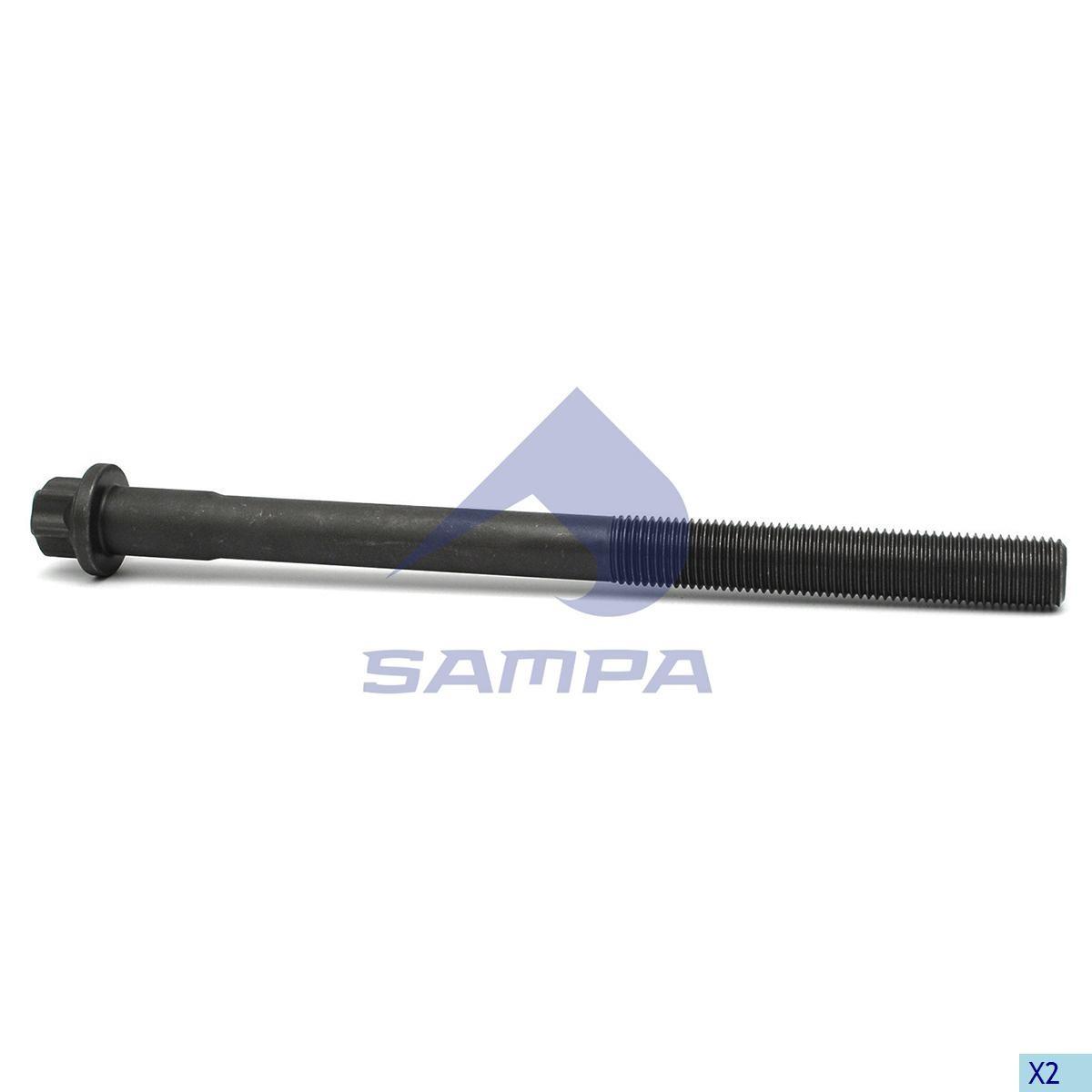 К-т болтов головки цилиндра MAN TGA D2066/2676 (13 болтов 0,5 к/т) photo