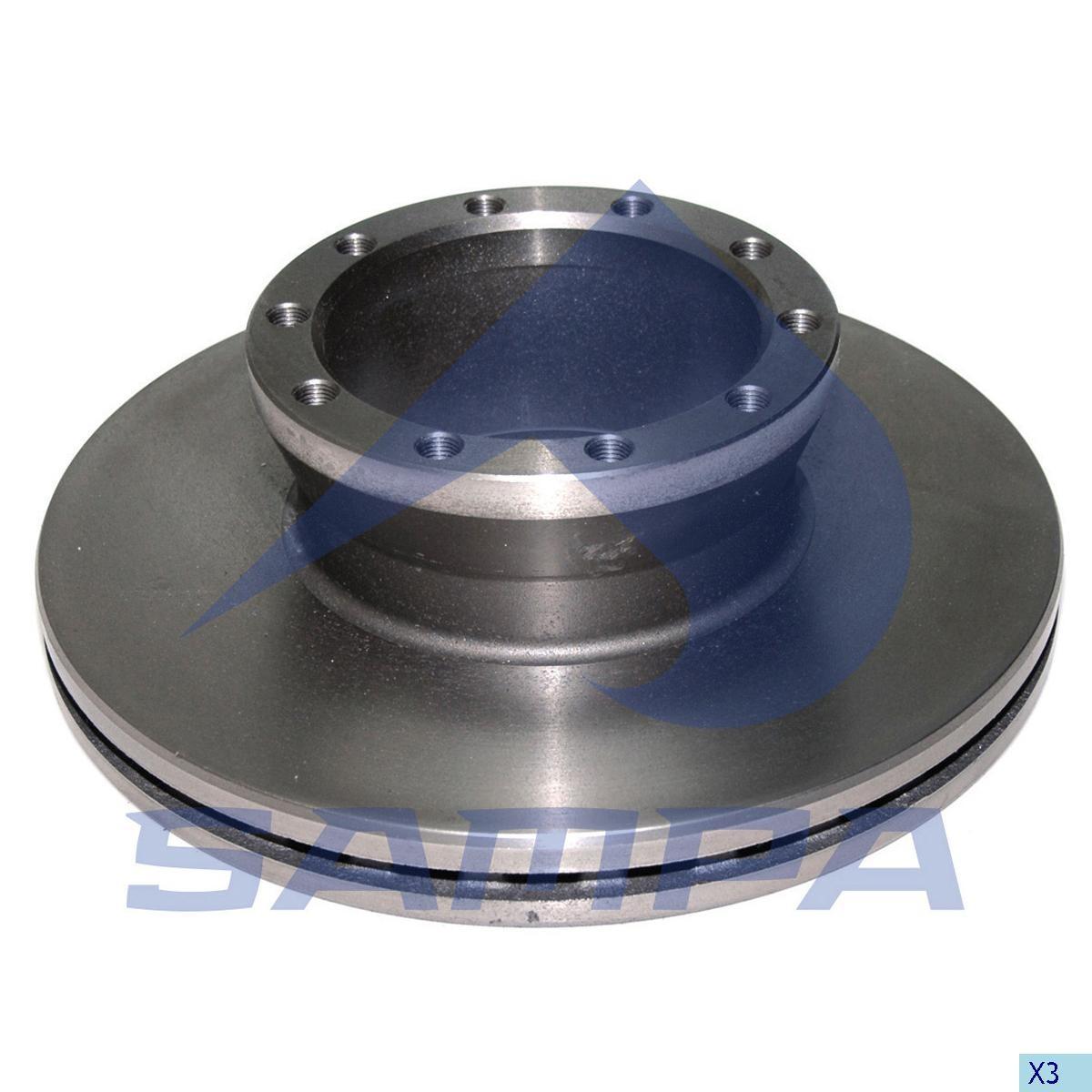 Disc Frina MAN L2000 330х34/10 (960328) photo