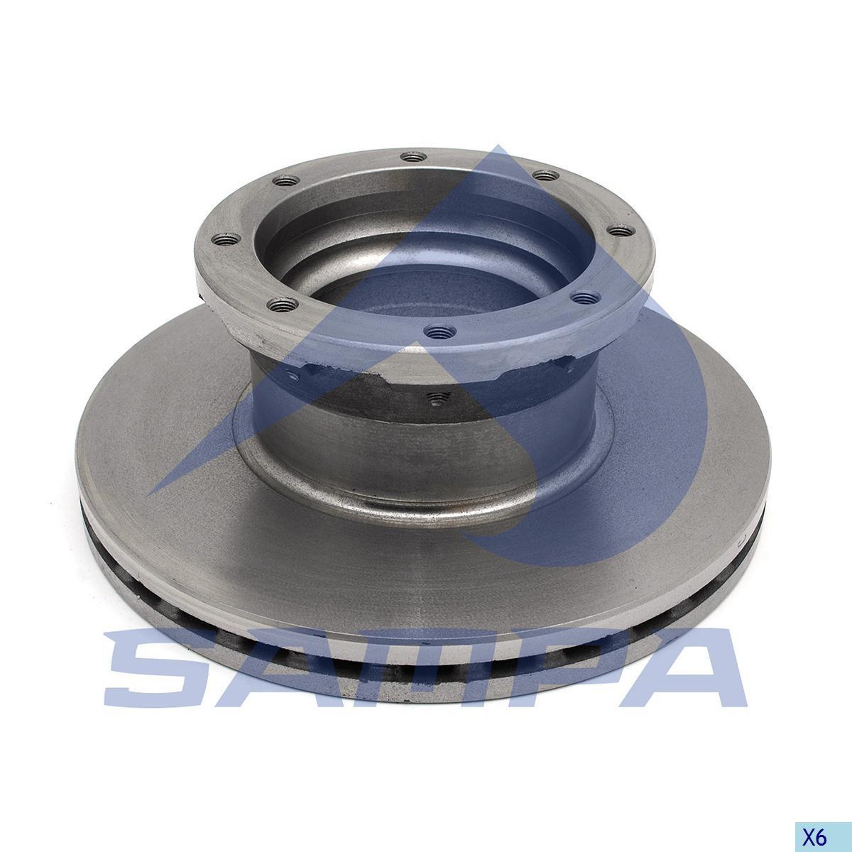 Тормозной диск MAN L2000 330х34/8 (960345) photo