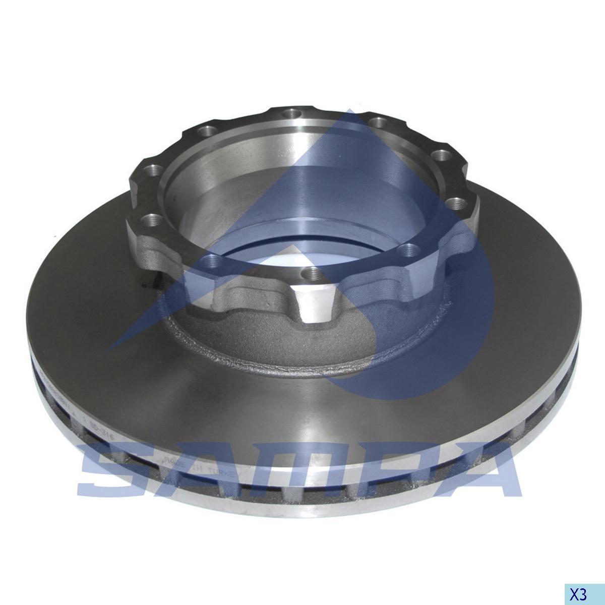 Тормозной диск MAN 432х45мм/10 (960100) photo