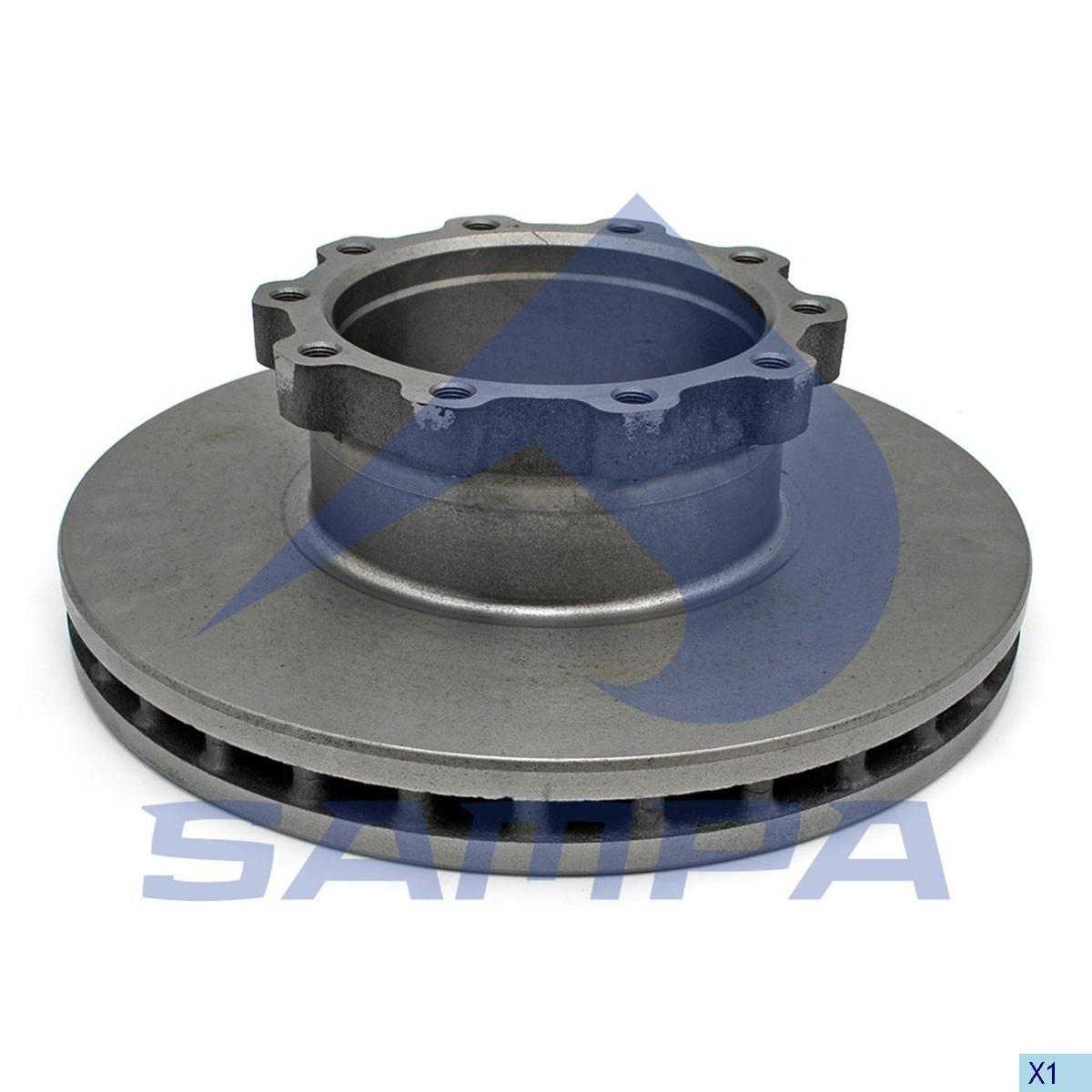 Тормозной диск MAN M2000 377х45мм/10 (960329) photo