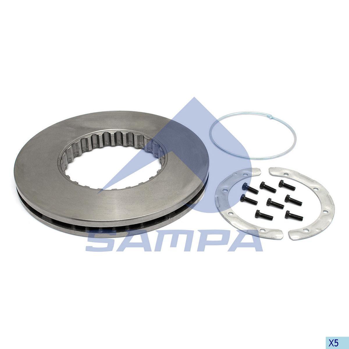 Тормозной диск VOLVO FH12,FH16 (венитилируемый) 434x45 photo
