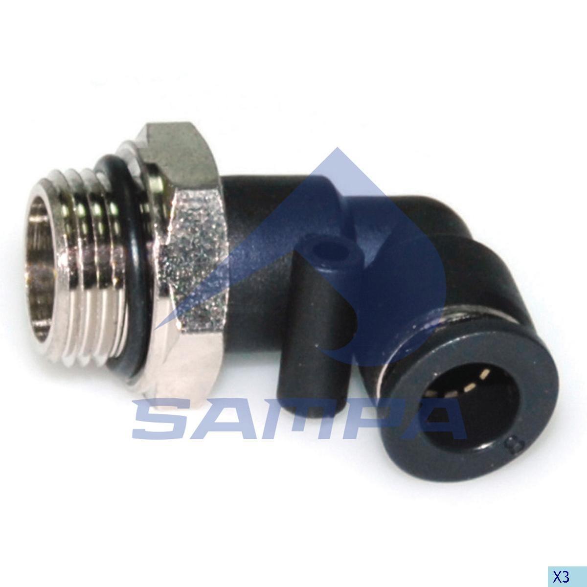 Фитинг металический/пластиковый угловой M17X1.5 8X1 photo