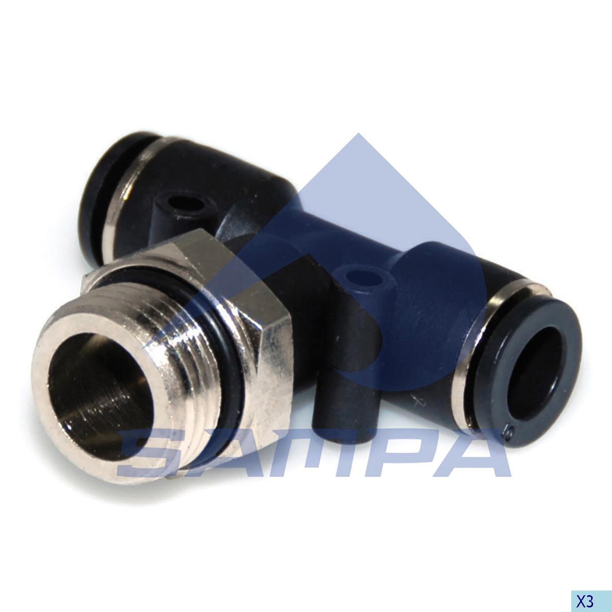 Фитинг металический/пластиковый тройной M22x1.5 10x10 photo