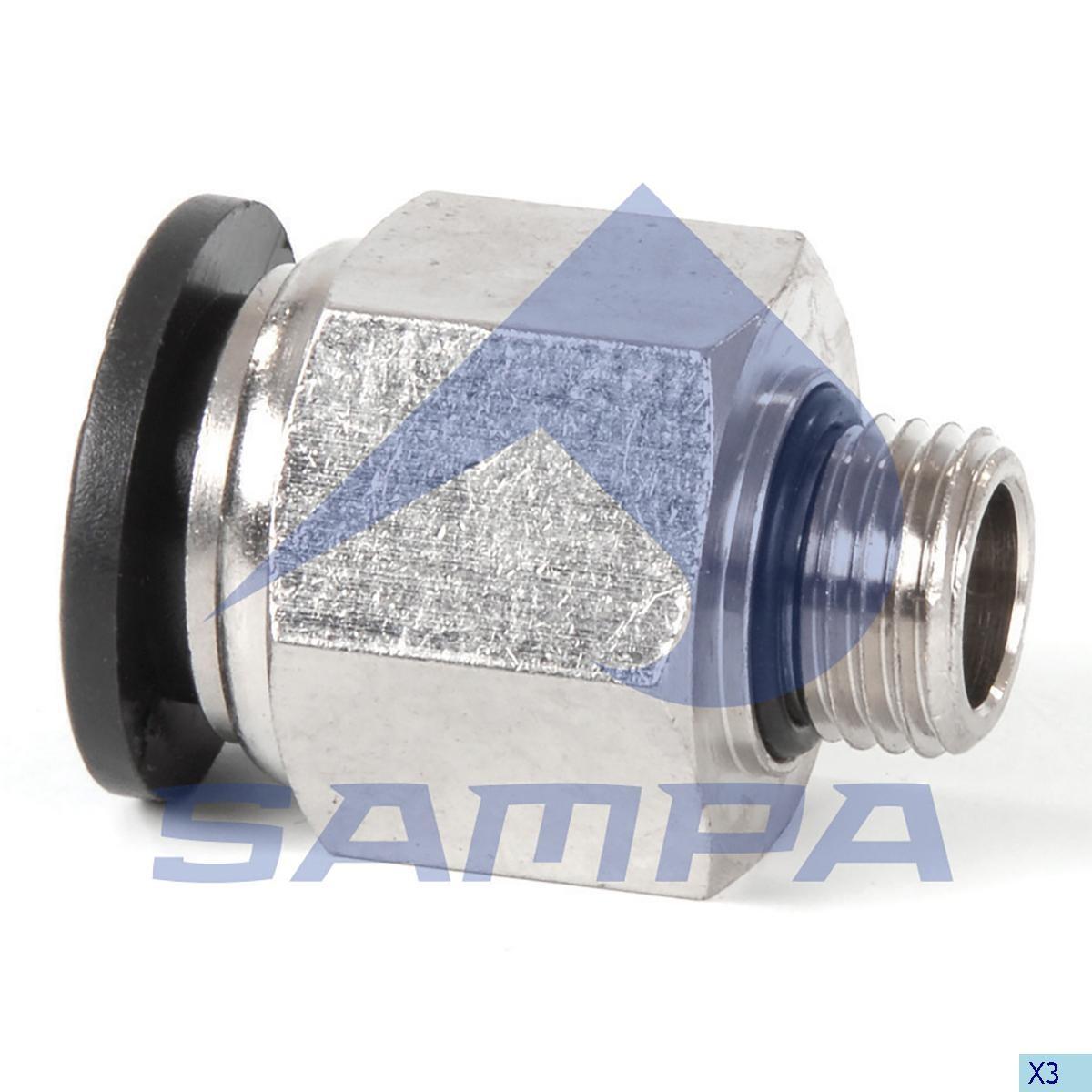 Фитинг металический прямой M12x1.5-12(plast) photo
