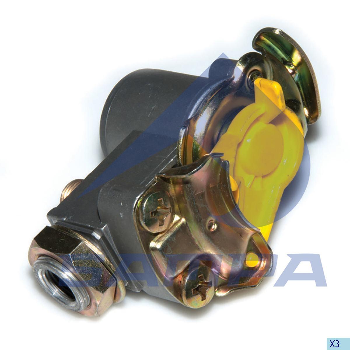 Разъем пневматич. М16х1,5 Yellow photo