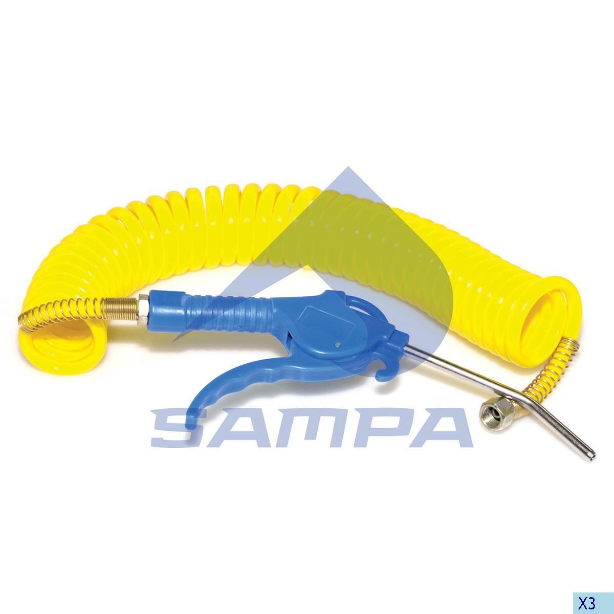 Pistol pneumatic 7,5м желтый photo