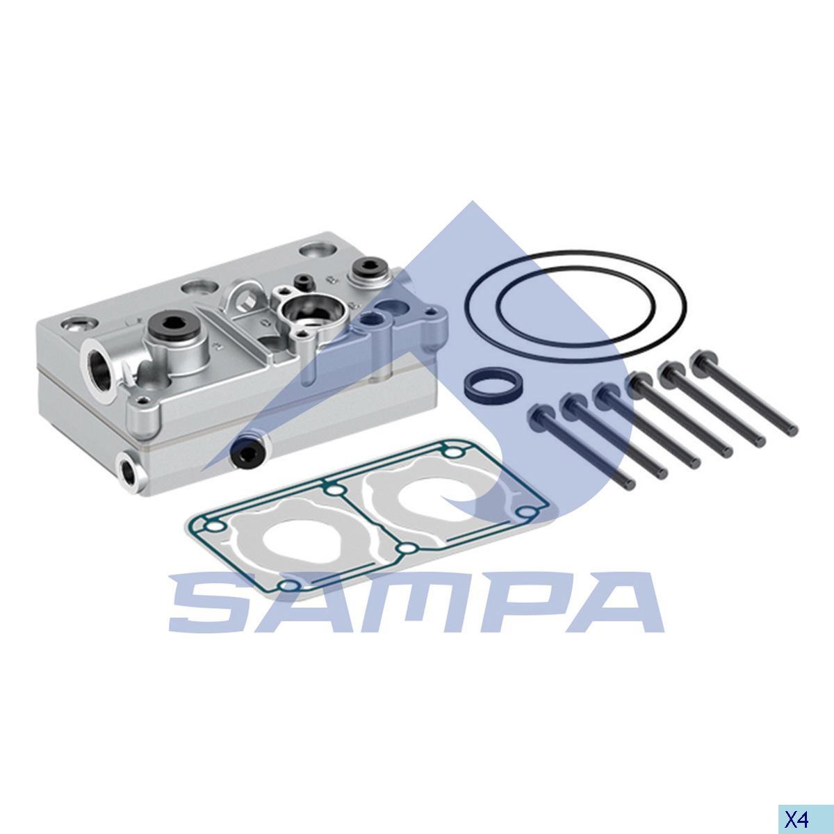 Головка компрессора Volvo FH12 Wabco 4127040060 photo