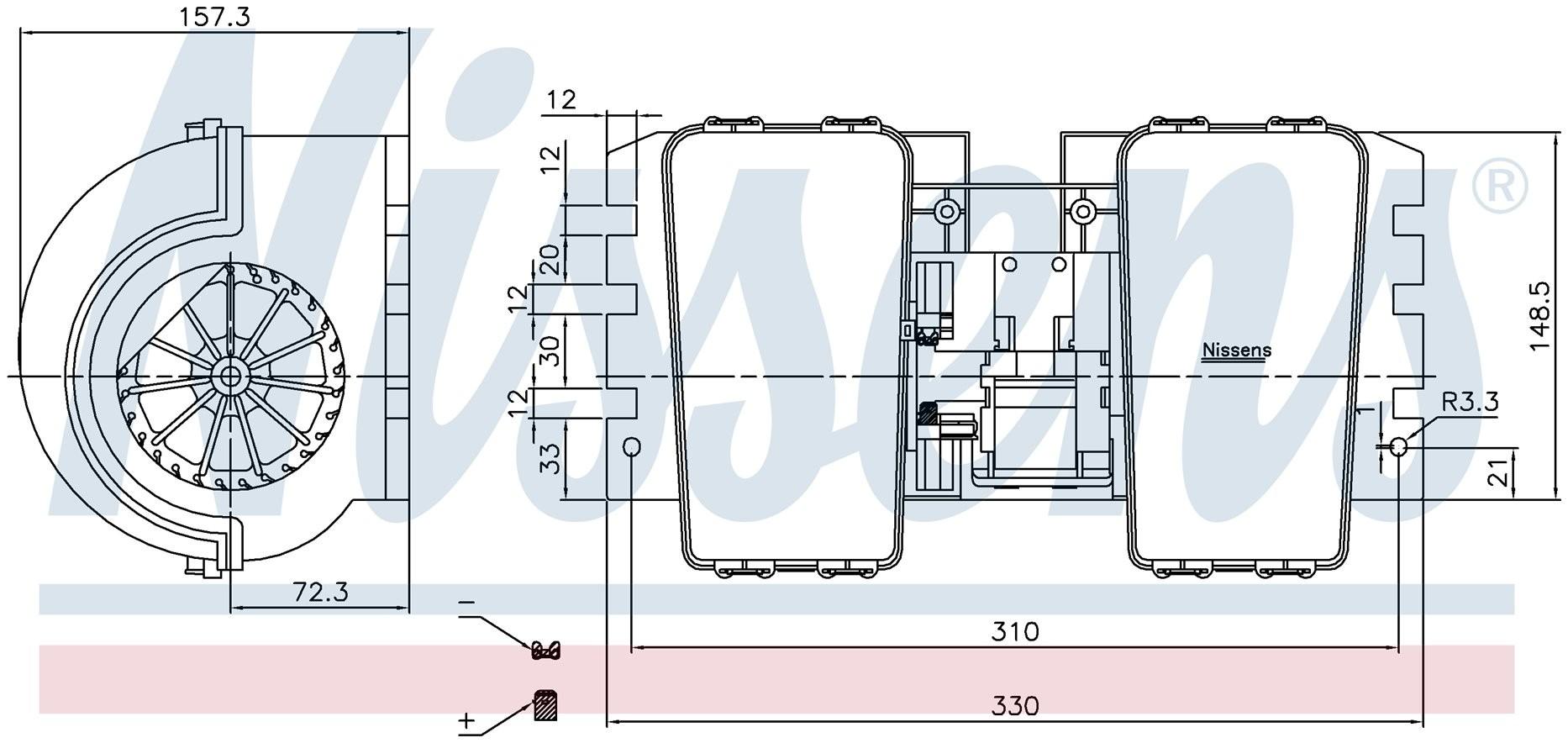 Вентилятор печки DAF 85CF (Nissens) photo