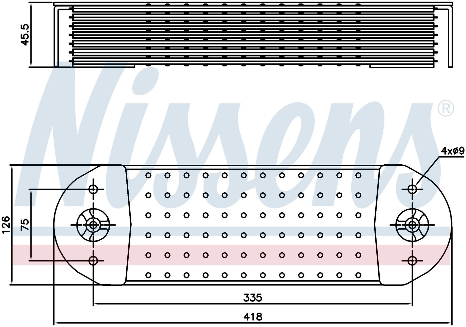 Теплообменник Volvo FH12 D12 (Nissens) photo