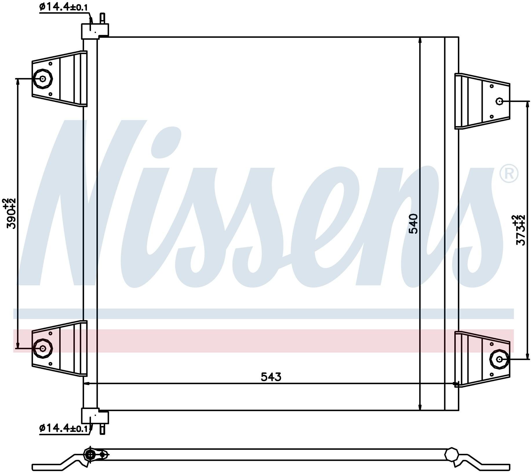 Радиатор кондиционера DAF 95/105XF (Nissens) photo