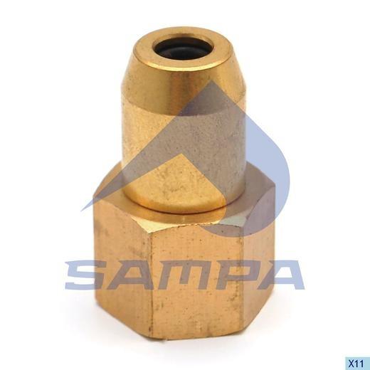 Фитинг металический M12x1.5 (трубка 6x1) внутренея photo