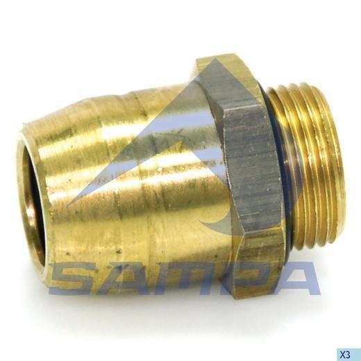 Фитинг металический прямой M16x1-16 (трубка) photo