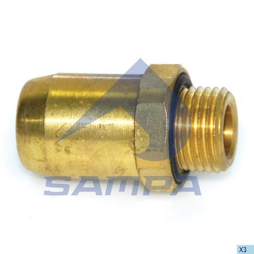 Фитинг металический прямой M16x1-10 (трубка) photo