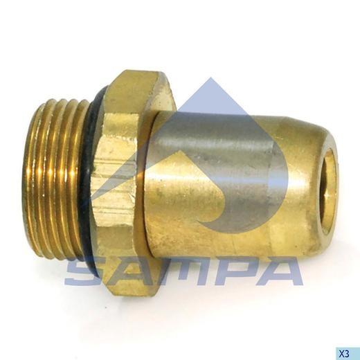 Фитинг металический прямой M22x1-10 (трубка) photo