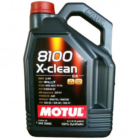 Масло моторное Motul DPF (5w40 8100x-clean) 5L photo